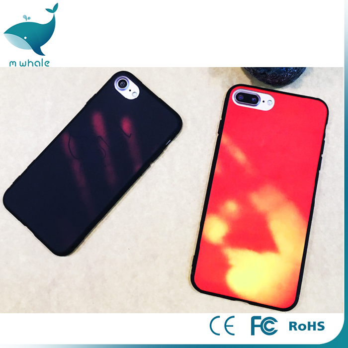 factory thermoinduction temperature sensing color change mobile phone case back cover for iphone 6 6s 7 7 plus