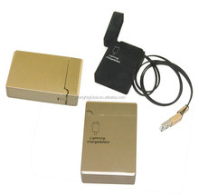 F225 Retractable charging USB cable cords with a Zinc Alloy case to put custom LOGO on