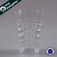 High class 300ml custom highball carved wine and water glass tumbler