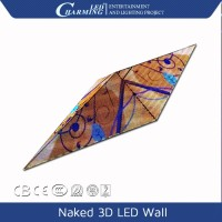 entertainment digital sepcial shape indoor full color naked 3D led wall display