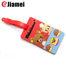 Cute custom wholesale animal shape luggage tag