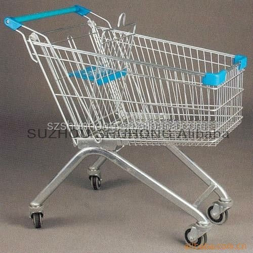 electric unfoldable shopping cart trolley with coin lock (Europe style )