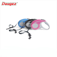 New design Germany Quality mix color 3m/5m automatic Retractable dog leash with reflective stripe