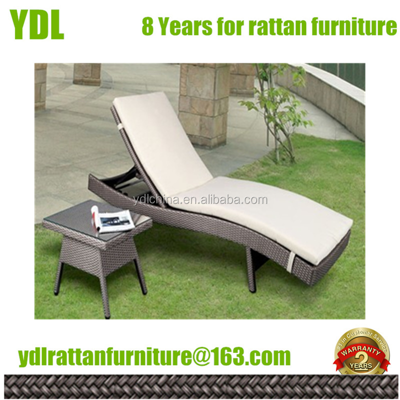Youdeli rattan chaise lounge wicker outdoor furniture