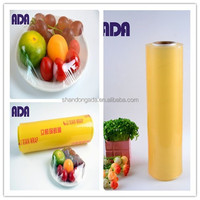 Transparency food grade roll wrap PVC cling film Food Packaging PVC Cling Film dispensers