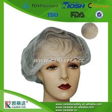 Disposable white fine mesh nylon hairnets for food process