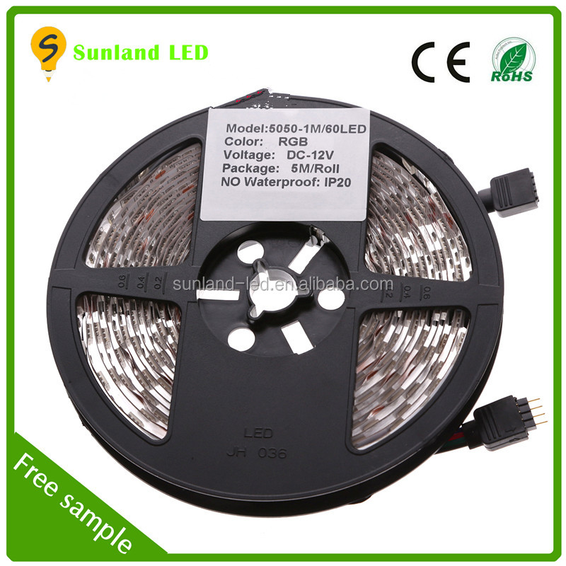 Waterproof flexible LED Strips SMD 5050 Blue 30leds/60leds Smart Lighting CE&RoHS mini flexible led strip light specification