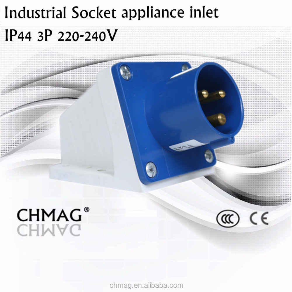 China Appliance Inlet Wholesale Alibaba Cee Industrial Connector 16a 32a 4p Ip44 Mainland Electrical