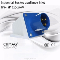 Industrial plug and socket Wall plug IP44 16A 3P 513 appliance inlet 240V