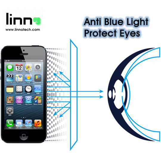 Latest Technology Anti Blue Light Tempered glass screen protector for Iphone SE 5 Eyes Care