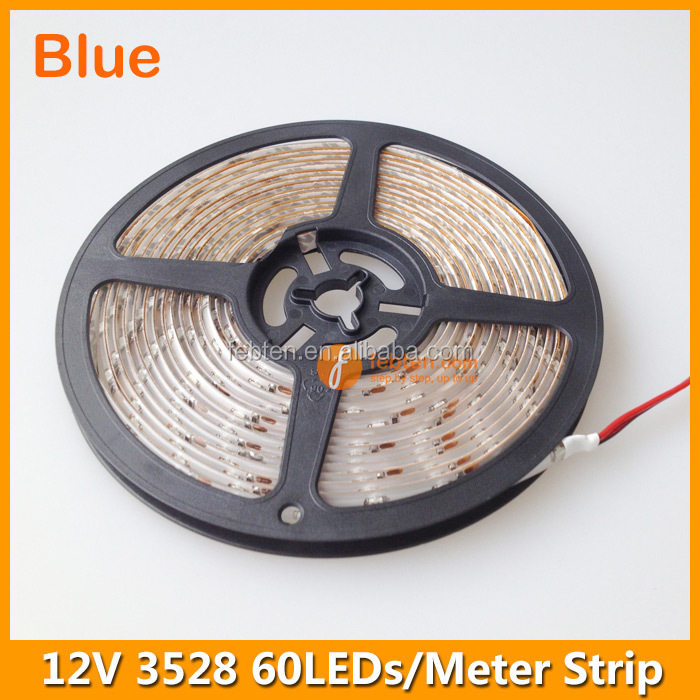Best price 12v 60leds/m IP65 waterproof led strip 3528 blue lighting wholesale