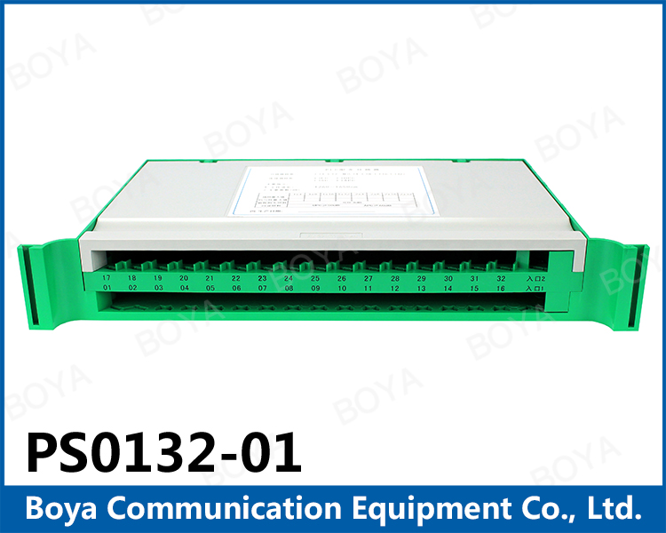 Telecommunication fiber optic 1x32 plc splitter tray