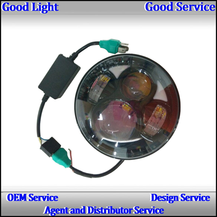 OVOVS round 50w H/L beam DOT 5.75inch motorcycle led headlight for H-arley davidson parts