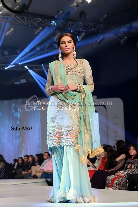 full sleeves Embriodered short shirt with sharara BE-M63