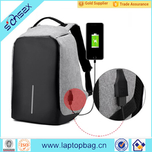 "High quality business travel waterproof Polyester Anti-Theft Backpack USB for 17"" laptop"