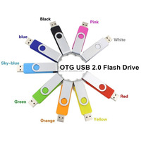 Colorful OTG USB flash drive pen drive 4GB 8GB 16GB 32GB 64GB, metal usb stick Support Smart phone+PC Real capacity u disk