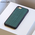 Green Color Python Case for iphone 7 plus luxury cell phone case