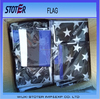 high quality 3X5FT Screen Printing Thin American Flags with Blue Line