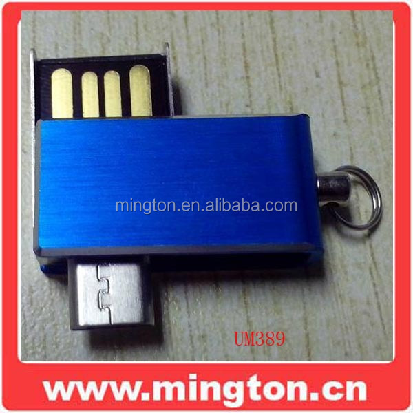 Mini otg usb flash drive swivel