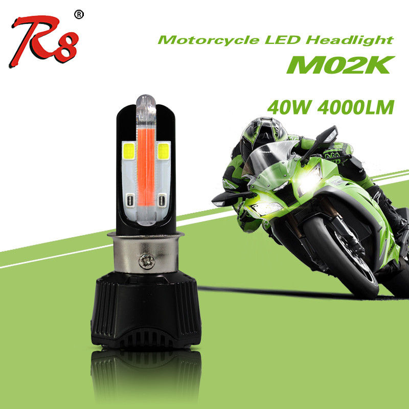 RTD led mh4 motorcycle headlight M02K Hi/Lo 40W 4000lm white ice blue motorcycle led driving lights