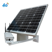 Outdoor waterproof solar panel buellet IP camera for home security which support 3G 4G sim card