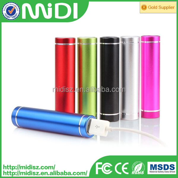 Best sale mobile phone charger Portable universal power bank 2600mah