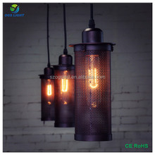 Wholesale Antique Iron Hollow Out Lampshade Pendant Lamp with Edison Light Bulb