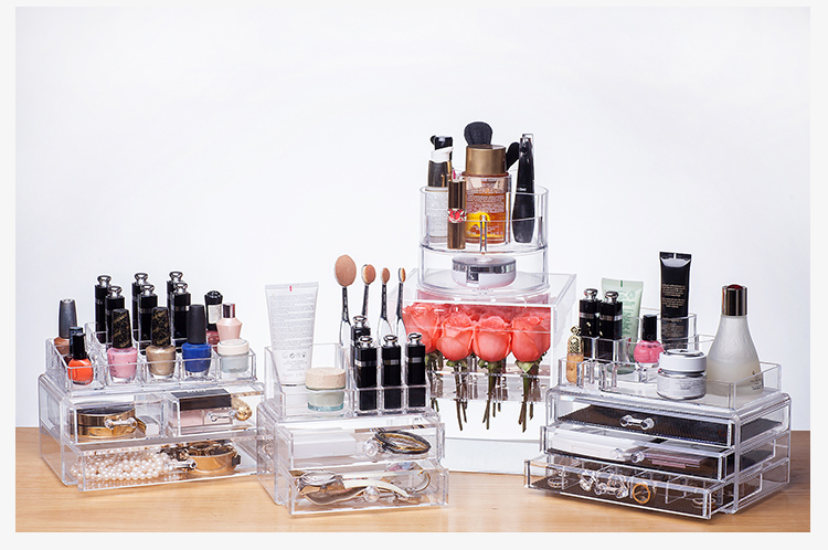 Wholesale Crystal Clear 6 Drawers Acrylic Make Up Organizer