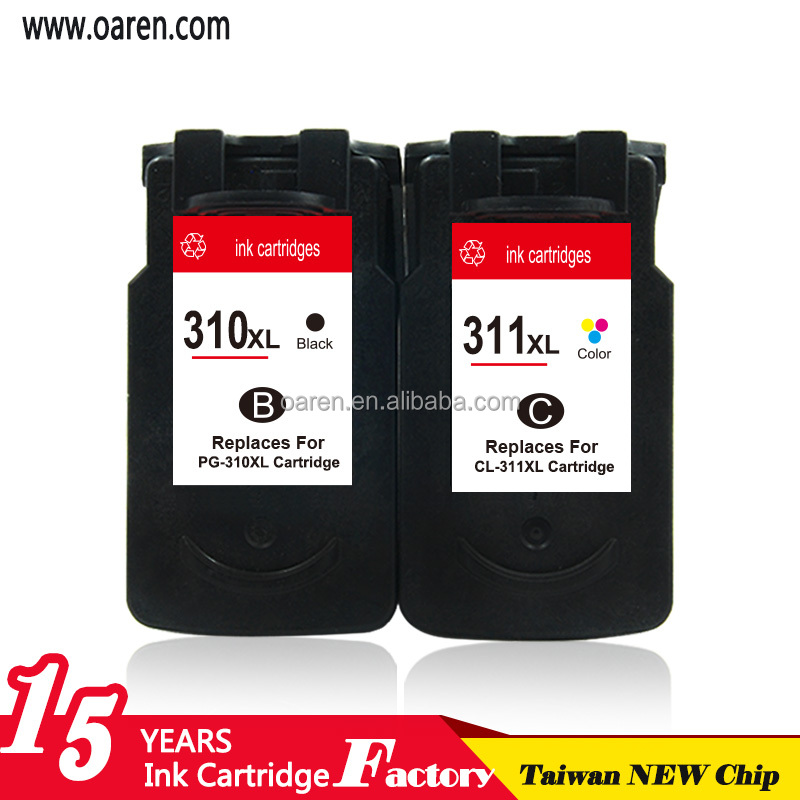 remanufacture ink cartridges for Canon 310 311 original recycling ink cartridge for Canon 310 311 for Canon MP480 printer