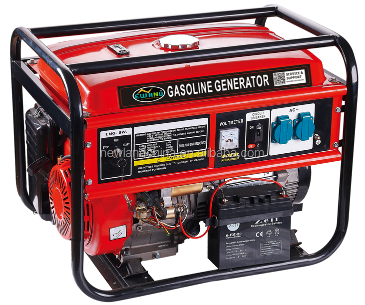 Electric start/Single phase/100% copper wire/gasoline 5kva honda generator