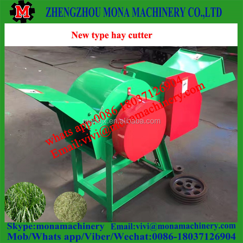 Straw/grain stalk chaff cutter for cattle and sheep