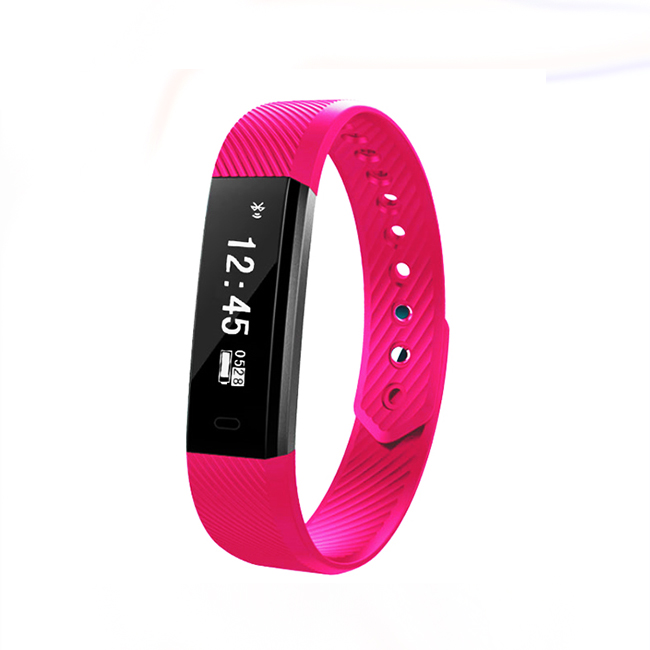 China Suppliers Bluetooth 4.0 Waterproof 115HR Smart Bracelet for IOS and Android