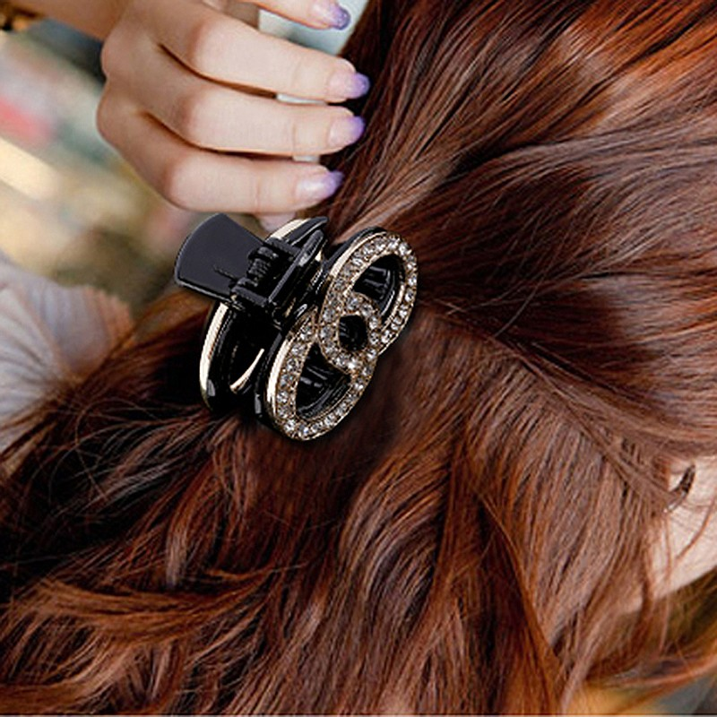 wholesale fashion crystal plastic hair claw clip Women high quality Crystal Hair clips hair jewelry
