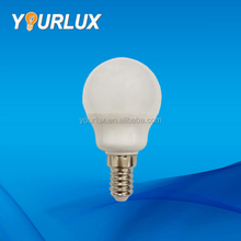 China e27 e14 day night light G45 C35 led plastic lamp bulb