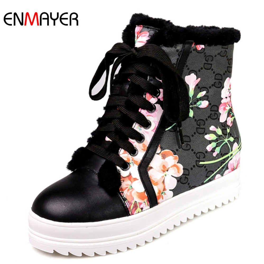 European best selling high low neck two wear way sheep wool ladies black snow boots