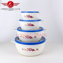 4pcs stocked stainless steel plastic food warmer container with solid handle