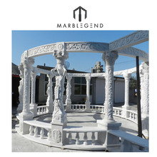 PFM Hand carved Natural stone marble garden gazebo for sale