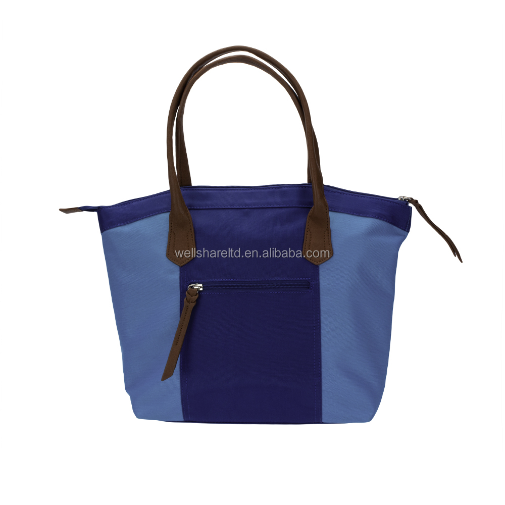 Hot Selling Luxury Waterproof Polyester Royal Blue Evening Messenger Tote Bag for Women