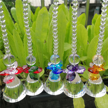 30mm colorful crystal prism garland hanging suncatcher ball chandelier part