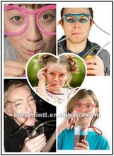 2012 Top Hot Item Crazy Sun eyeglasses Frames Piped Silly Drinking Straws