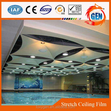 Project building material laser cutting for pvc stretch ceiling film for indoor roof with 15-year warranty for swimming pools