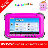 Android4.2 HD 1024*600 7inch kids tablet pc with 2 interface dual core rockchip31681gb ddr camera