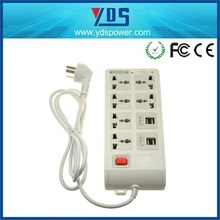 6 Outlets Smart Universal Power Strip Socket with 4 USB Ports American Extension Charger Board