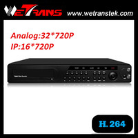 WETRANS AVR3632 S AHD/Analog/IP Hybrid Network H.264 32CH 720P Input Audio AHD real time DVR player 32 Channel AHD DVR