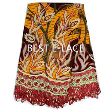 2016 High quality cotton 6 YARD Guaranteed real dutch wax block prints in hollandies african wax fabric for clothing