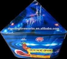 15 shots Triangle shape cake Fireworks