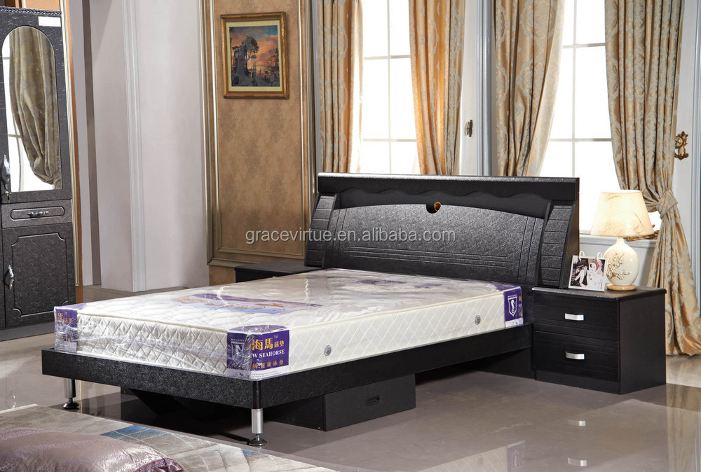 factory wholesale king size mdf bed set bedroom furniture