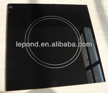high quality black Microcrystalline glass / Electric pottery stove glass