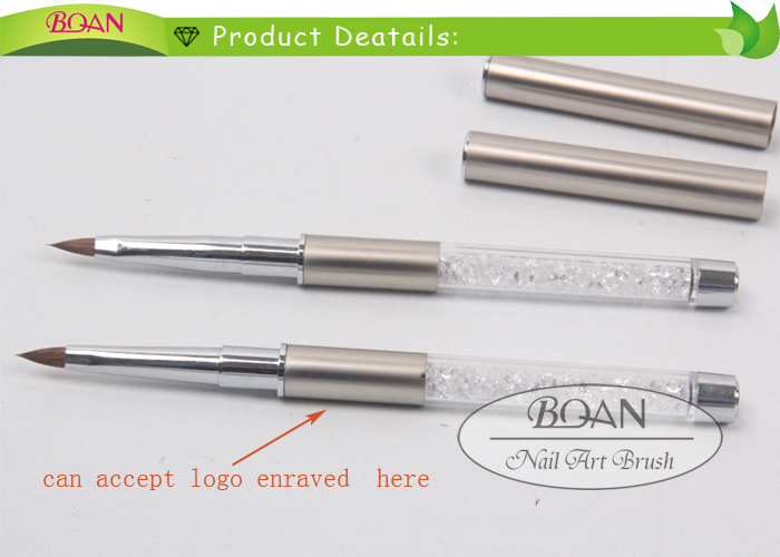 New Boqian Factory Direct Metal Cap Kolinsky Acrylic Nail Brush