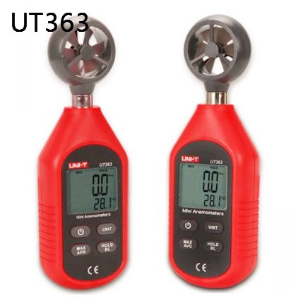 Mini Digital Wind Speed Meters UNI-T UT363 Pocket Anemometers Speed Temperature Digital Anemometer